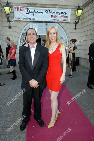 The Simpsons producer Mike Reiss with wife