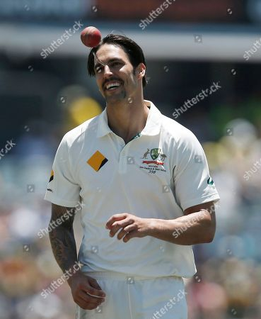 Mitchell Johnson Australia's Mitchell Johnson walks to his bowling crease during a cricket test match against New Zealand in Perth, Australia