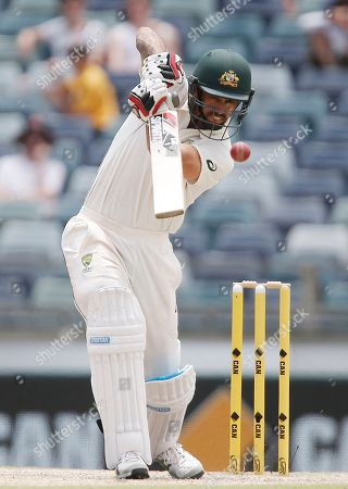 Mitchell Johnson Australia's Mitchell Johnson plays a stroke during his last innings of his test career against Australia during their cricket test match in Perth, Australia
