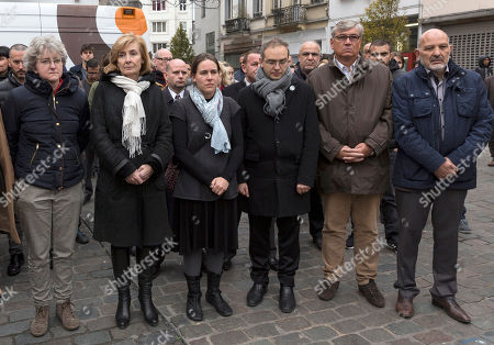Francoise Schepmans The mayor of the Brussels Molenbeek neighborhood Francoise Schepmans, 2nd left, together with other officials hold a minute of silence in remembrance of the Paris terror attacks victims, in Brussels on . A major action with heavily armed police is underway in the Brussels neighborhood of Molenbeek amid a manhunt for a suspect of the Paris attacks