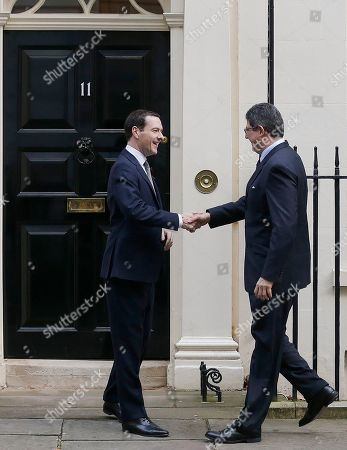 George Osborne, Joaquim Levy Britain's Chancellor George Osborne, left, greets his Brazilian counterpart, Finance Minister Joaquim Levy at Downing Street in London, to host the first UK-Brazil Economic and Financial Dialogue