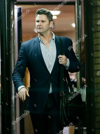 Stock Image of Former New Zealand cricketer Chris Cairns leaves Southwark Crown Court in London, . Cairns must wait until Monday at the earliest to learn the result of his perjury trial after jurors failed to reach a verdict following a second day of deliberations. The 45-year-old is accused of lying during a libel action against Indian Premier League founder Lalit Modi, and is facing charges of perjury and perverting the course of justice
