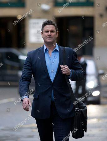 Stock Image of Chris Cairns Former New Zealand cricket captain Chris Cairns arrives for his perjury trial at Southwark Crown Court in London, . Cairns is accused of lying during a libel action against Indian Premier League founder Lalit Modi, and is facing charges of perjury and perverting the course of justice