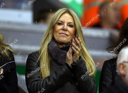 Ulla Sandrock wife of Liverpool manager Jurgen Klopp during their English League Cup Fourth Round soccer match against Bournemouth at Anfield in Liverpool, England