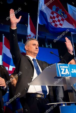 Tomislav Karamarko Opposition leader Tomislav Karamarko celebrates his coalition's winning of majority of votes, in Zagreb, Croatia, early . Croatia's conservative opposition is leading in an official preliminary vote count against the ruling center-left coalition in the Balkan country's first parliamentary election since joining the European Union in 2013