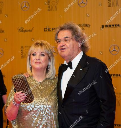 German editors Patricia Riekel and Helmut Markwort attend the Bambi 2015 media awards in Berlin