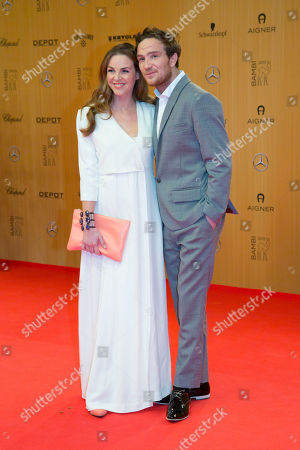 Annika Kipp and Frederic Lau attend the Bambi 2015 media awards in Berlin