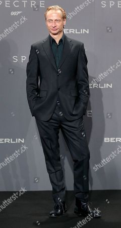 Actor Victor Schefe arrives for the German premiere of the James Bond movie 'Spectre' in Berlin, Germany
