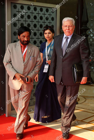 Taieb Baccouche Tunisian foreign minister Taieb Baccouche, right, arrives for the India Africa Forum Summit, at the Indira Gandhi International airport in New Delhi, India