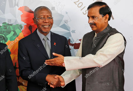 Pakalitha Mosisili, Mahesh Sharma Lesotho Prime Minister Pakalitha Mosisili, left, is received by Indian junior Culture minister Mahesh Sharma as he arrives for the India Africa Forum Summit, at the Indira Gandhi International airport in New Delhi, India