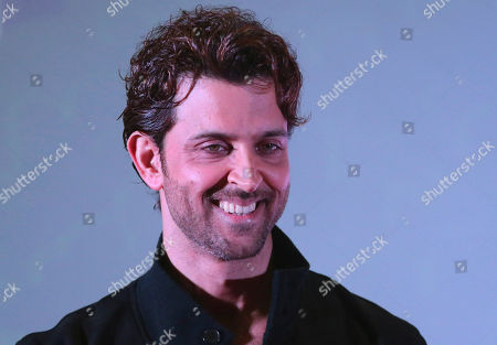 Hrithik Roshan Bollywood actor Hrithik Roshan reacts to a question from actress Lisa Ray during a promotional event for an e-commerce marketplace for gifting in Bangalore, India