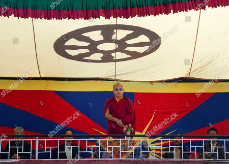 Ogyen Trinley Dorje Tibetan Buddhist leader the Karmapa Lama, Ogyen Trinley Dorje watches from a balcony the Founding Anniversary celebrations of the Tibetan Children's Village School in Dharmsala, India, . The school, which started as an orphanage in 1960, houses and educates over 2000 refugee children