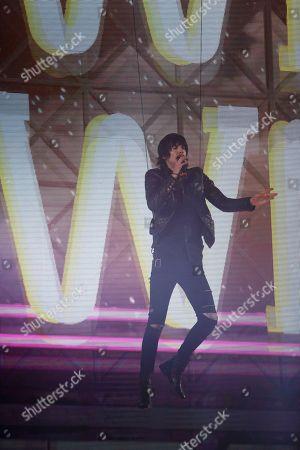 Stock Image of Eric Nally during the MTV European Music Awards in Milan, Italy