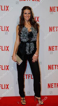 Cristina De Pin attends the presentation of Netflix on-demand internet streaming media provider, in Milan, Italy