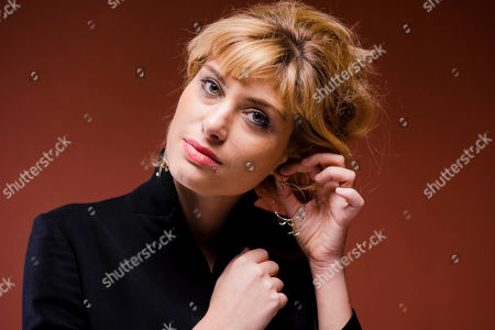 Stock Picture of Mathilde Bisson Actress Mathilde Bisson poses for portraits for the movie Au Plus Pres Du Soleil at the Rome Film Festival in Rome
