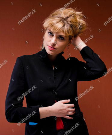 Stock Photo of Mathilde Bisson Actress Mathilde Bisson poses for portraits for the movie Au Plus Pres Du Soleil at the Rome Film Festival in Rome