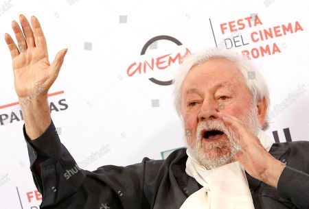 Paolo Villaggio Actor Paolo Villaggio poses for photographers during the photo call of the movie Fantozzi on the occasion of its 40th anniversary from its release in the movie theaters, at Rome's Film Festival, in Rome