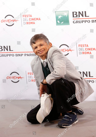 Stock Photo of Plinio Fernando Actor Plinio Fernando poses for photographers during the photo call for the tribute of the movie Fantozzi on the occasion of its 40th anniversary, at Rome's Film Festival, in Rome