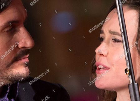 Stock Picture of Peter Sollett Ellen Page Director Peter Sollett, left, poses with actress Ellen Page on the red carpet for the screening of his movie Freeheld, at Rome's Film Festival, in Rome