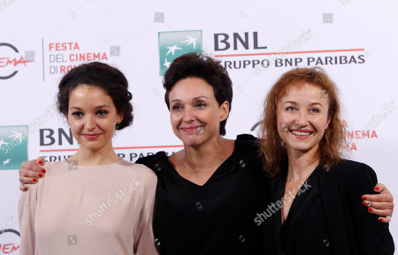 Maria Debska Kinga Debska Gabriela Muskala Director Kinga Debska, center, poses for photographers with actresses Maria Debska, left, and Gabriela Muskala, during the photo call of her movie Moje Corky Krowi (These Daughters of Mine) at Rome's Film Festival, in Rome