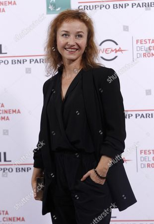 Stock Picture of Gabriela Muskala Actress Gabriela Muskala poses for photographers during the photo call of the movie Moje Corky Krowi (These Daughters of Mine) at Rome's Film Festival, in Rome