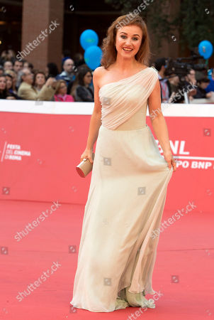 Gabriela Muskala Actress Gabriela Muskala poses on the red carpet for the screening of the movie Moje Corky Krowi (These Daughters of Mine) at Rome's Film Festival, in Rome