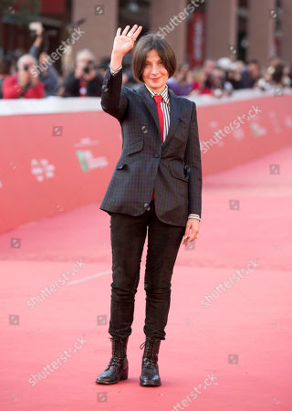 Stock Photo of Author Donna Tartt poses for photographers as she arrives for on the red carpet of the Rome's Film Festival in Rome