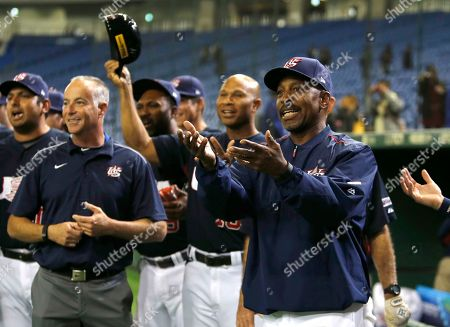 Willie Randolph Team USA manager Willie Randolph, right, celebrates after beating Mexico 6-1 in their semifinal game at the Premier12 world baseball tournament at Tokyo Dome in Tokyo