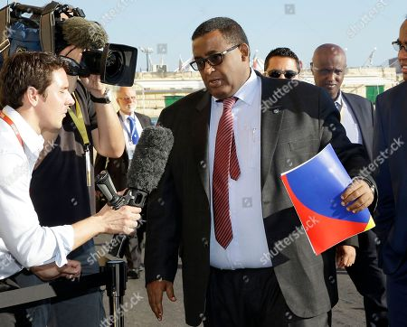 Somalia Prime Minister Omar Abdirashid Ali Sharmarke arrives on the occasion of a summit on migration in Valletta, Malta