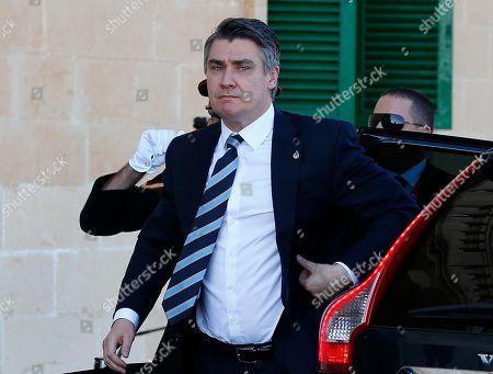 Croatia's Prime Minster Zoran Milanovic arrives to take part at a summit on migration in Valletta, Malta