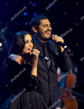 Stock Photo of Julieta Venegas, Criolo Julieta Venegas and Criolo perform together during the Fenix Iberoamerican Film Awards at the Esperanza Iris Theater in Mexico City