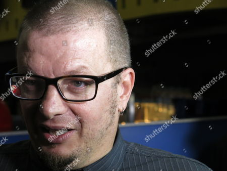 """Stock Photo of Uruguayan-born director Rodrigo Pla speaks during an interview after the presentation of the film, """"Un monstruo de mil cabezas"""" at the 13th edition of the Morelia International Film Festival, in Morelia, Mexico, . """"Un monstruo de mil cabezas"""" is directed by Pla and portrays a woman fighting a corrupt insurance system to save her husband's life"""