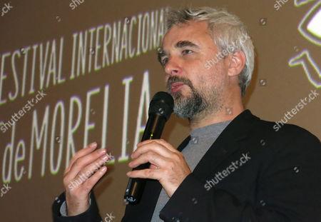 Stock Image of Australian-born filmmaker Michael Rowe presents his film Early Winter at the Morelia International Film Festival in Morelia, Mexico