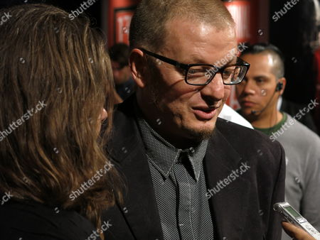 Stock Picture of Rodrigo Pla Uruguayan-born director Rodrigo Pla speaks to a reporter on the red carpet of the inauguration of the 13th edition of Morelia International Film Festival, in Morelia, Mexico, on