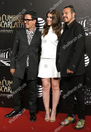Manolo Caro, Cassandra Sanchez-Navarro, Jorge Mondragon Mexican filmmaker Manolo Caro, left, Mexican actress Cassandra Sanchez-Navarro, center, talent manager Jorge Mondragon, pose for photographers on the red carpet as they arrive for the inauguration of the 13th edition Morelia International Film Festival, in Morelia, Mexico, on
