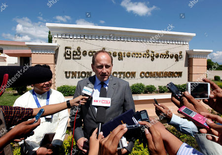 Alexander Graff Lambsdorff Alexander Graf Lambsdorff, vice president of the European Union Parliament from Germany, talks to journalists during a press briefing after meeting with Union Election Commission (UEC), in Naypyitaw, Myanmar