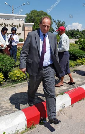 Alexander Graf Lambsdorff Alexander Graf Lambsdorff, vice president of the European Union Parliament from Germany, leaves after meeting with Union Election Commission (UEC), in Naypyitaw, Myanmar. Myanmar will hold it's general elections on Nov. 8, 2015