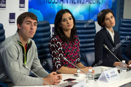 Anna Chicherova, Sergey Shubenkov, Yelena Isinbayeva From left: Sergey Shubenkov, the 2015 World Champion in the 110 metres hurdles, Yelena Isinbayeva, a Russian pole vaulter, a two-time Olympic gold medalist and a three-time World Champion, and Anna Chicherova, Russian high jumper, gold medalist at the 2012 London Olympics, attend a press conference in Moscow Russia, . Russia's athletics federation was provisionally suspended by the IAAF on Friday, just days after the country was accused of operating an extensive state-backed doping program in a report by a World Anti-Doping Agency independent panel