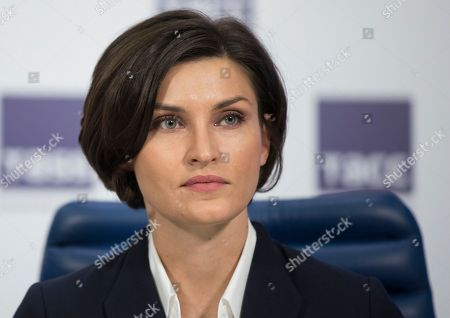Stock Photo of Anna Chicherova Russian high jumper Anna Chicherova attends a press conference in Moscow in Moscow, Russia, . Russia's athletics federation was provisionally suspended by the IAAF on Friday, just days after the country was accused of operating an extensive state-backed doping program in a report by a World Anti-Doping Agency independent panel