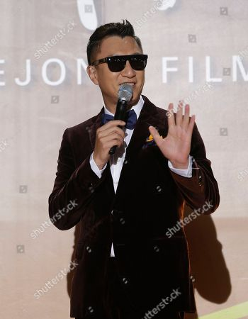 Stock Photo of Sun Honglei Chinese actor Sun Honglei speaks for a photo call during the Daejong Film Awards in Seoul, South Korea