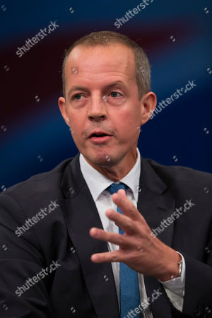 Nick Boles Minister of State for Skills speaks during the Conservative Party Conference, in Manchester, England