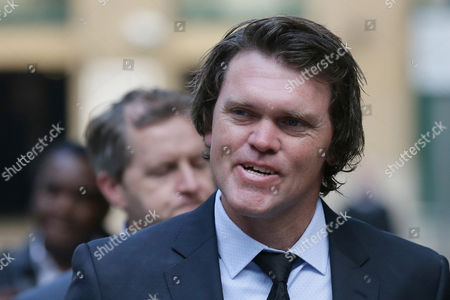 Former New Zealand cricketer Lou Vincent arrives at Southwark Crown Court where he is a witness in the trial of former New Zealand cricketer Chris Cairns, in London, . Cairns faces charges of perjury and perverting the course of justice in relation to a libel case he brought against Indian Premier League founder Lalit Modi