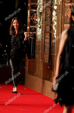 Lin Xinru Taiwanese actress Lin Xinru walks on the red carpet at a wedding for Chinese actor Huang Xiaoming and Chinese actress Angelababy in Shanghai, China