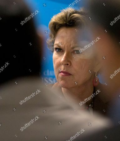 Stock Picture of Kati Marton Board member and former chairperson for the Committee to Protect Journalists, Kati Marton, listens to other speakers during a media conference in Brussels on . The New York-based Committee to Protect Journalists said in a report on Tuesday's that the 28-nation bloc was struggling to match its lofty human rights standards with its day-to-day actions in protecting journalists around the world