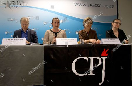 Kati Marton, Jean-Paul Marthoz, Courtney Radsch, Nina Ognianova From left, EU correspondent for the Committee to Protect Journalists, Jean-Paul Marthoz, Advocacy Director for the CPJ, Courtney Radsch, Board member and former chairperson for the CPJ, Kati Marton and Central Asia Program Coordinator for the CPJ, Nina Ognianova address a media conference in Brussels on . The New York-based Committee to Protect Journalists said in a report on Tuesday's that the 28-nation bloc was struggling to match its lofty human rights standards with its day-to-day actions in protecting journalists around the world