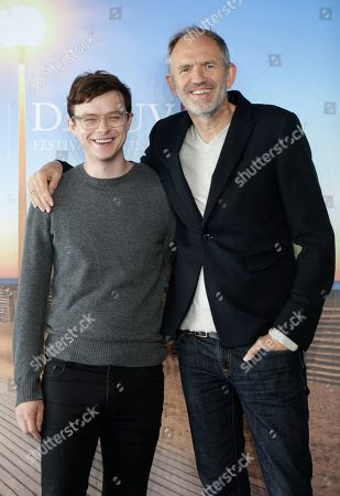 Dutch director Anton Corbjn, right, and American actor Dane DeHaaan pose during a photocall for their film Life at the 41st American Film Festival, in Deauville, Normandy, Western France