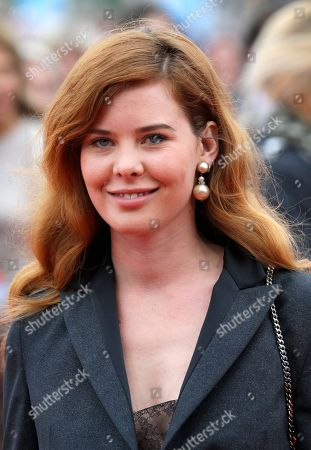 French actress Lou Lesage arrives for the screening of the film Life at the 41st American Film Festival, Saturday, Sept. 5, 2015, in Deauville, Normandy, western France