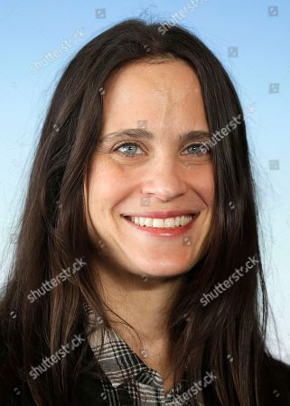 """US Screetwriter Amy Koppelman poses during a photocall for her film """"I smile back"""", at the 41st American Film Festival, in Deauville, Normandy, western France"""