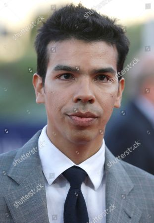 Stock Picture of US actor Octavio Gomez Berrios arrives at the 41st American Film Festival, in Deauville, Normandy, western France