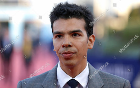 US actor Octavio Gomez Berrios arrives at the 41st American Film Festival, in Deauville, Normandy, western France